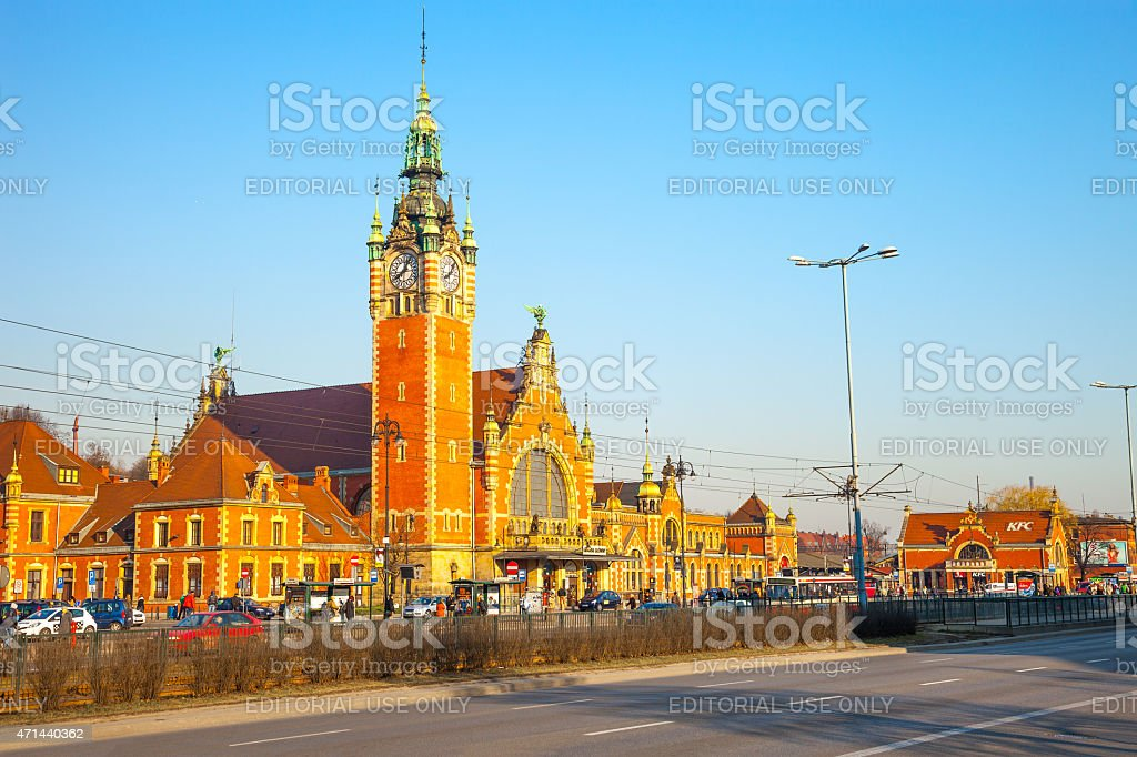 Historic building of Main Railway Station stock photo