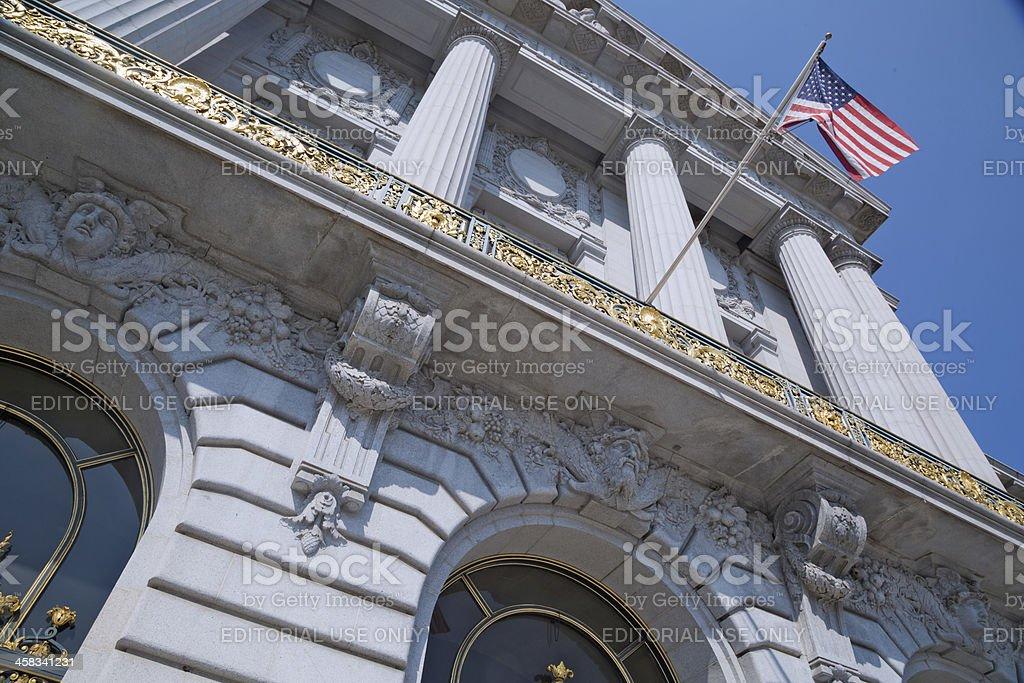 Historic building of San Francisco City Hall stock photo