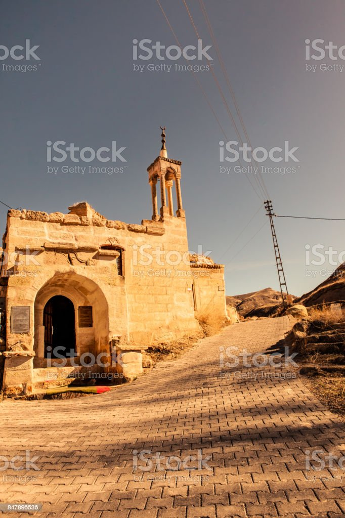 Historic Building, Old Rock Mosque stock photo