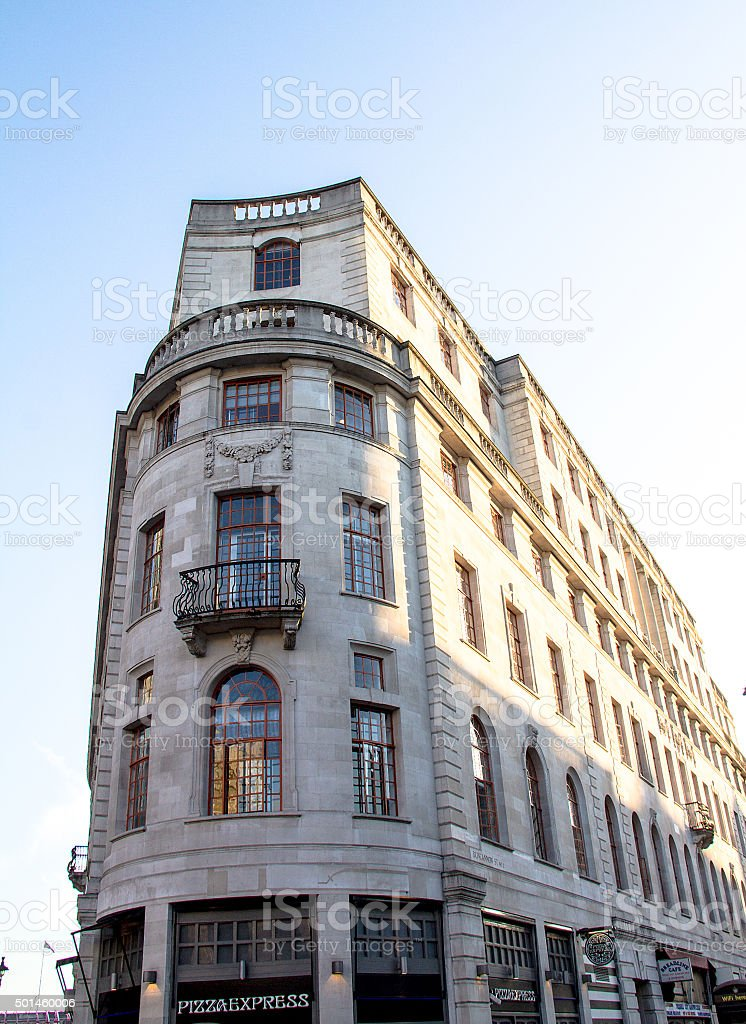 Historic building on The Strand. London. UK stock photo