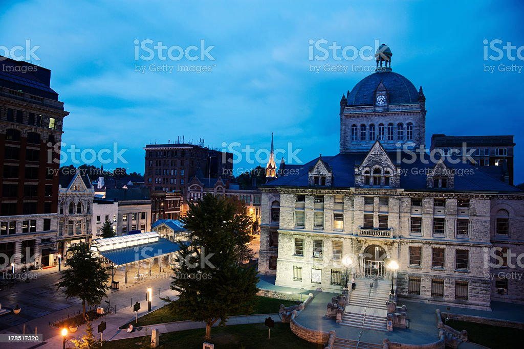 Historic buildings in downtown Lexington stock photo