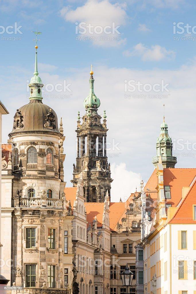 Historic buildings in Dresden stock photo