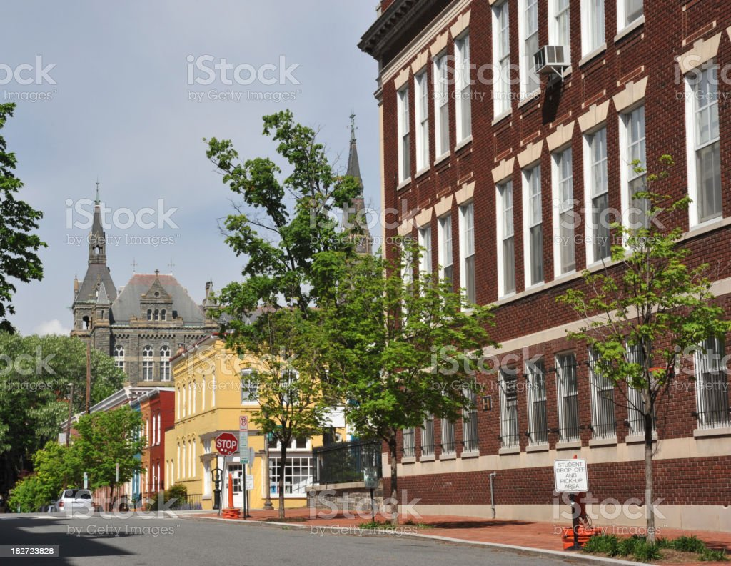 Historic Buildings in Georgetown royalty-free stock photo