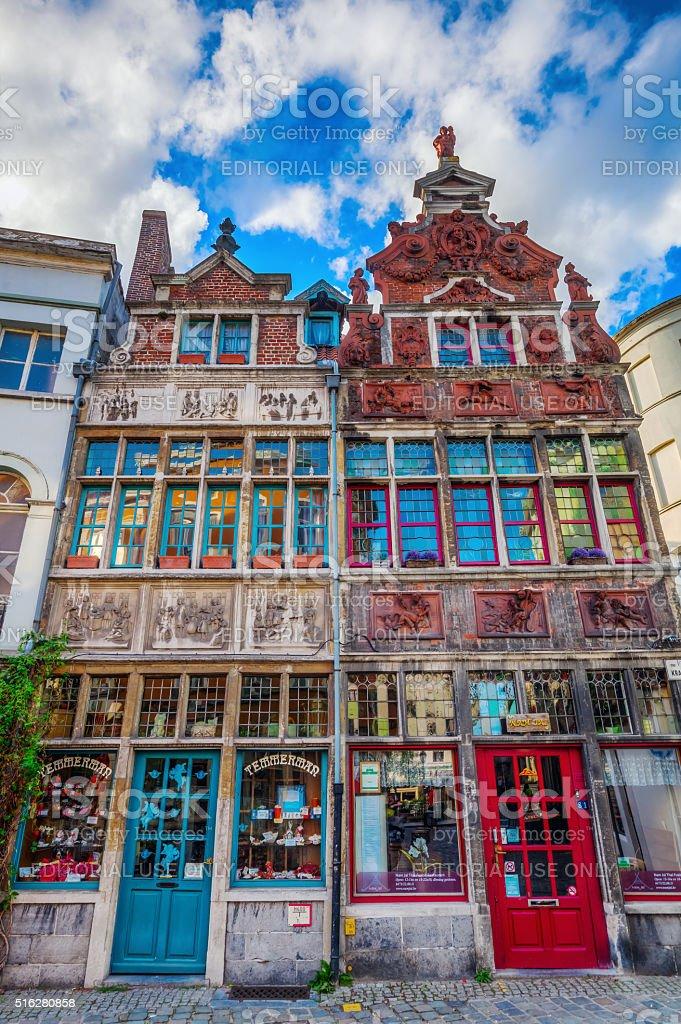 historic buildings in Ghent, Belgium stock photo