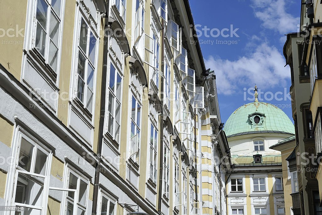 Historic Buildings in Innsbruck royalty-free stock photo
