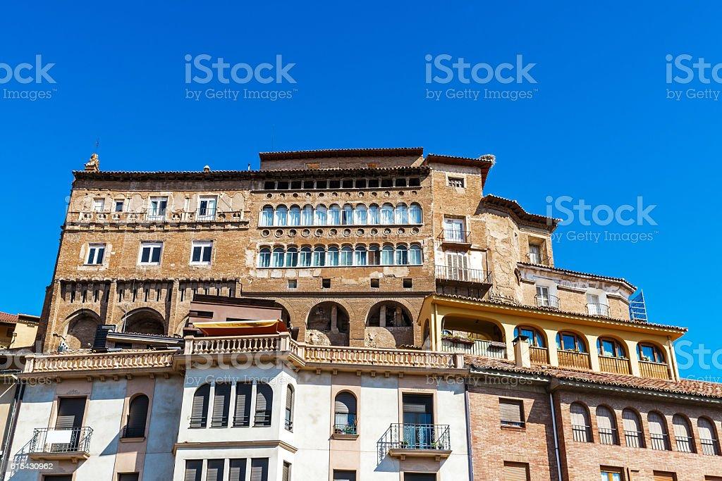 Historic buildings in Tarazona de Aragon, Saragossa, Spain stock photo