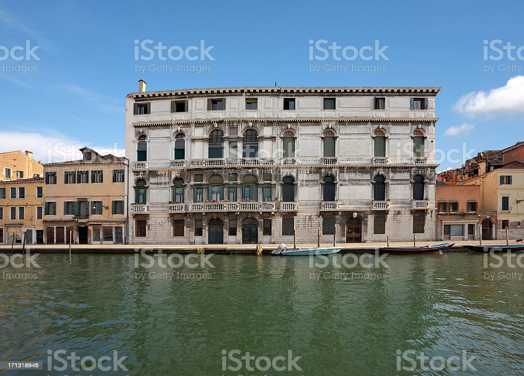 historic buildings in venice, italy royalty-free stock photo