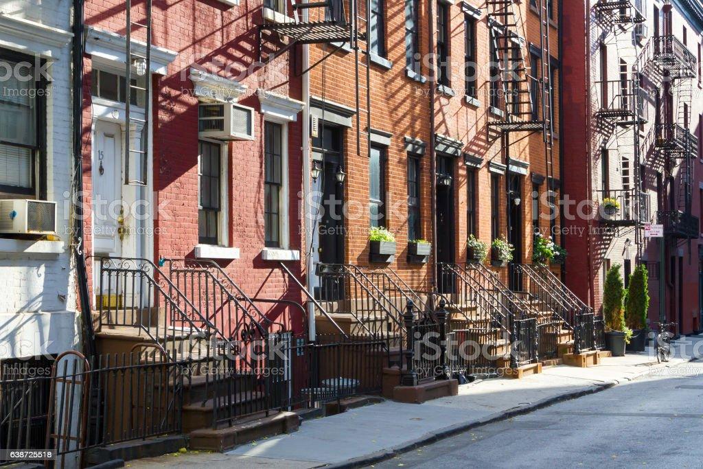 Historic Buildings on Gay Street in Manhattan New York City stock photo