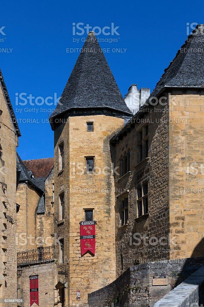 Historic Buildings - Sarlat - France stock photo
