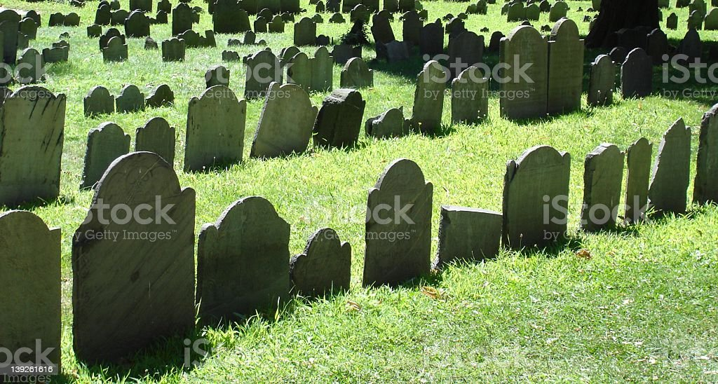 Historic Burial Ground royalty-free stock photo