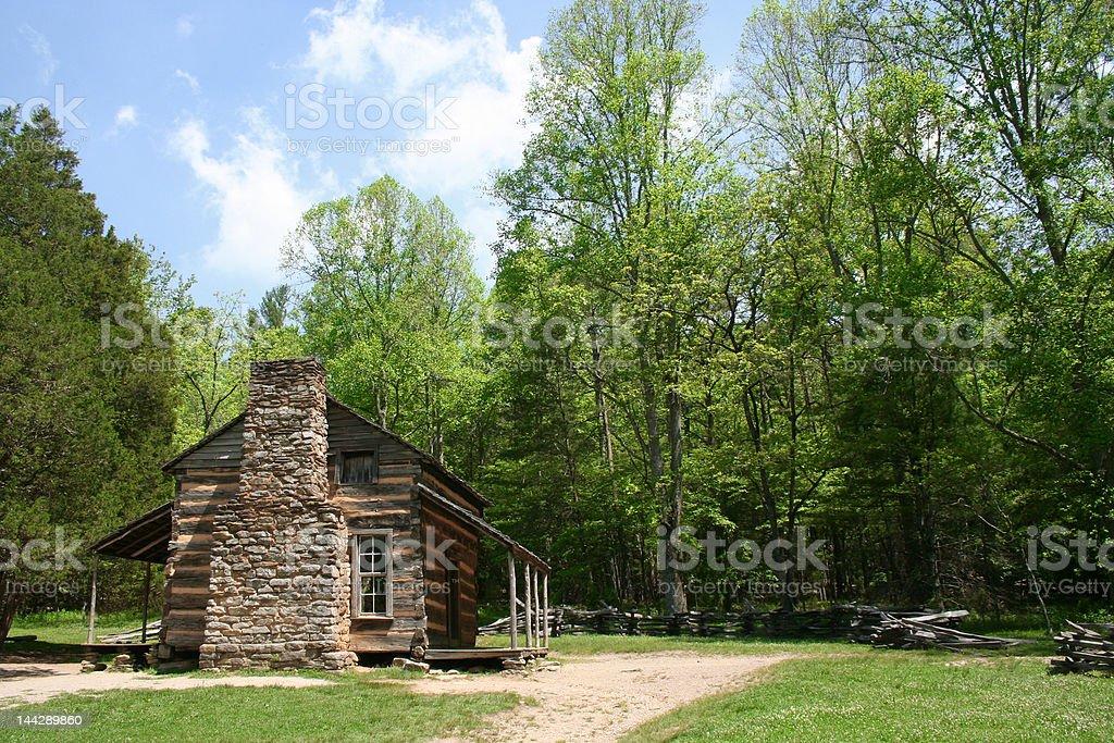 Historic cabin royalty-free stock photo