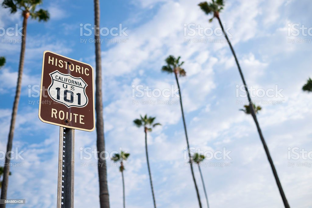 Historic California Route 101 stock photo
