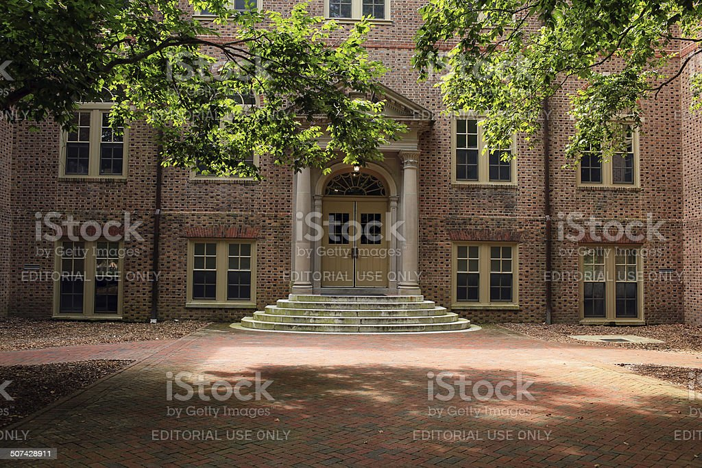 Historic Campus building of William and Mary stock photo