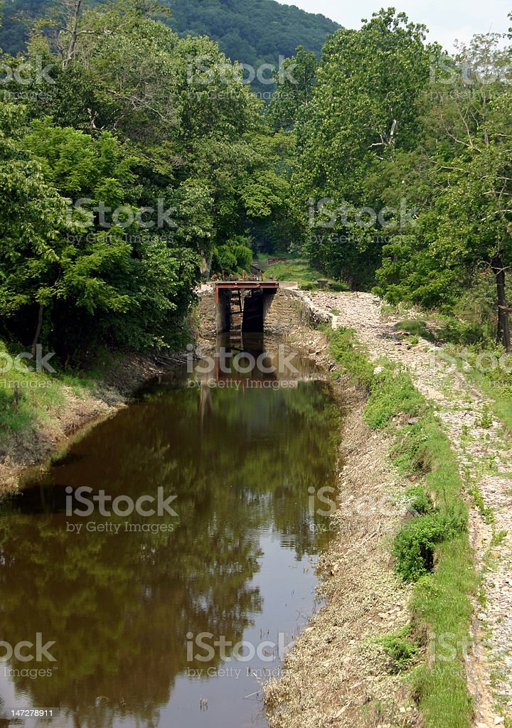 Historic Canal Lock – State Park stock photo