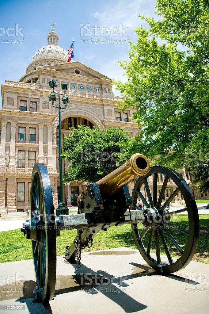 Historic Cannon Texas State Capitol Austin stock photo