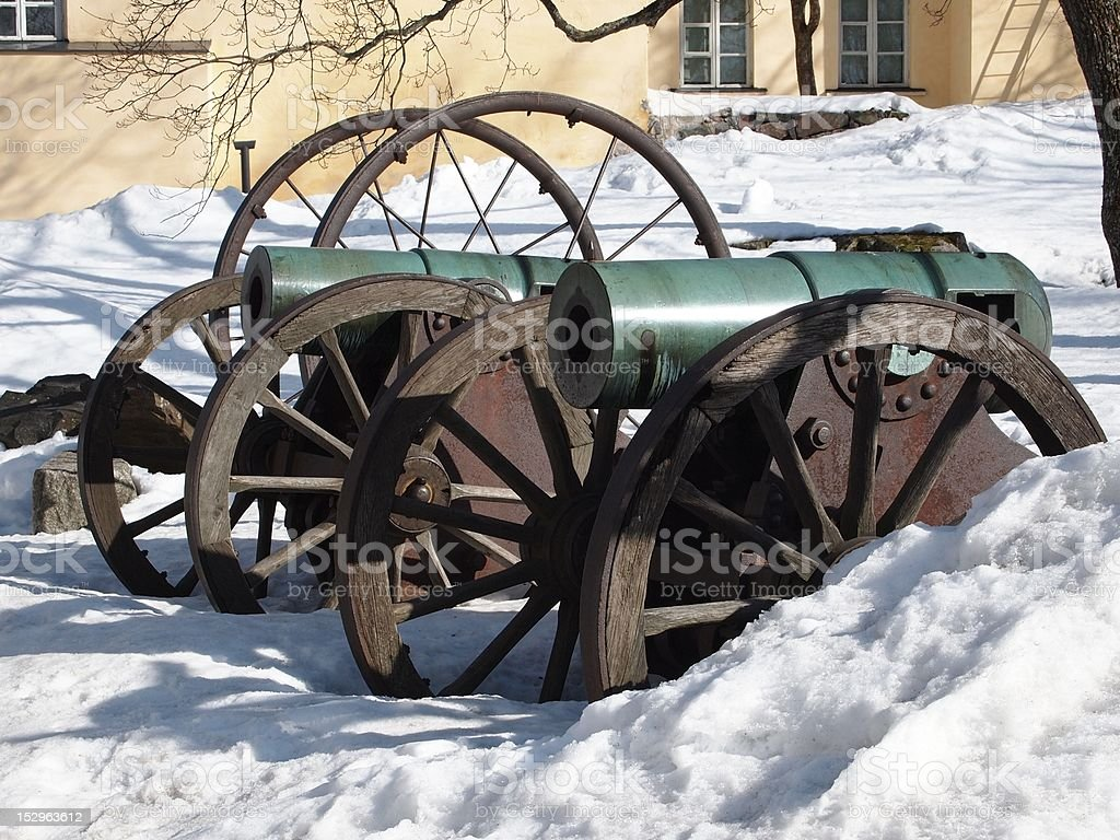 Historic Cannons royalty-free stock photo