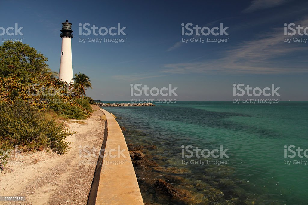 Historic Cape Florida Light stock photo