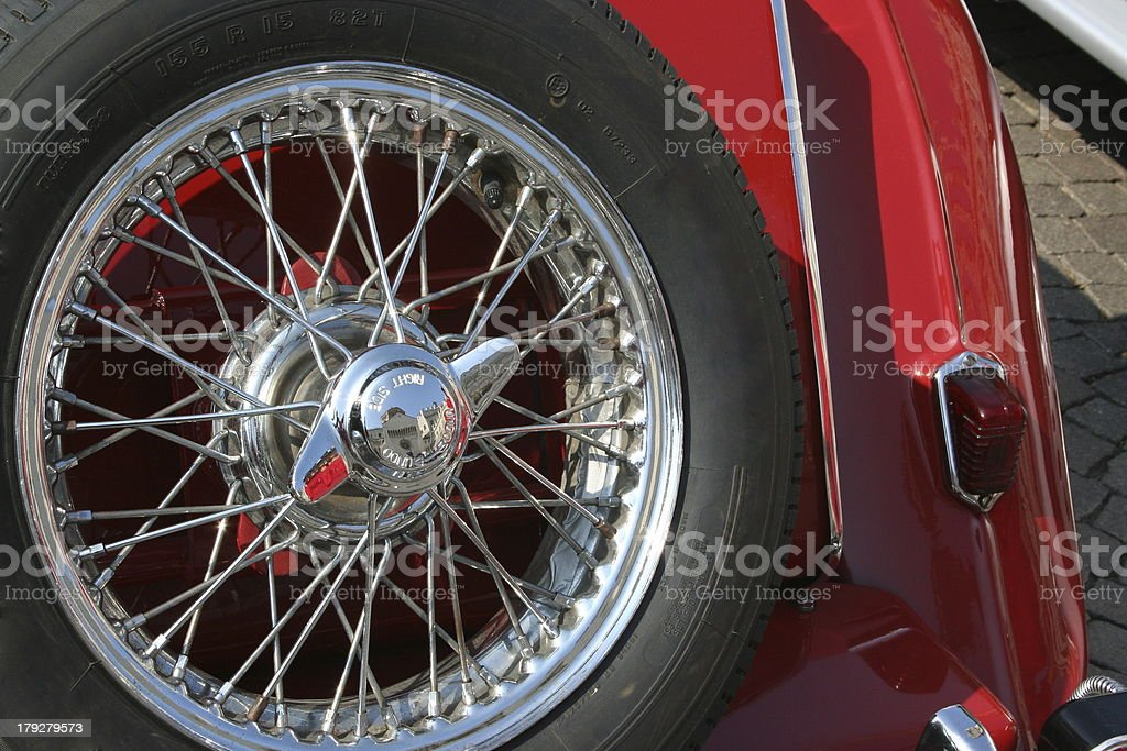 Historic Car with Spare Tire royalty-free stock photo