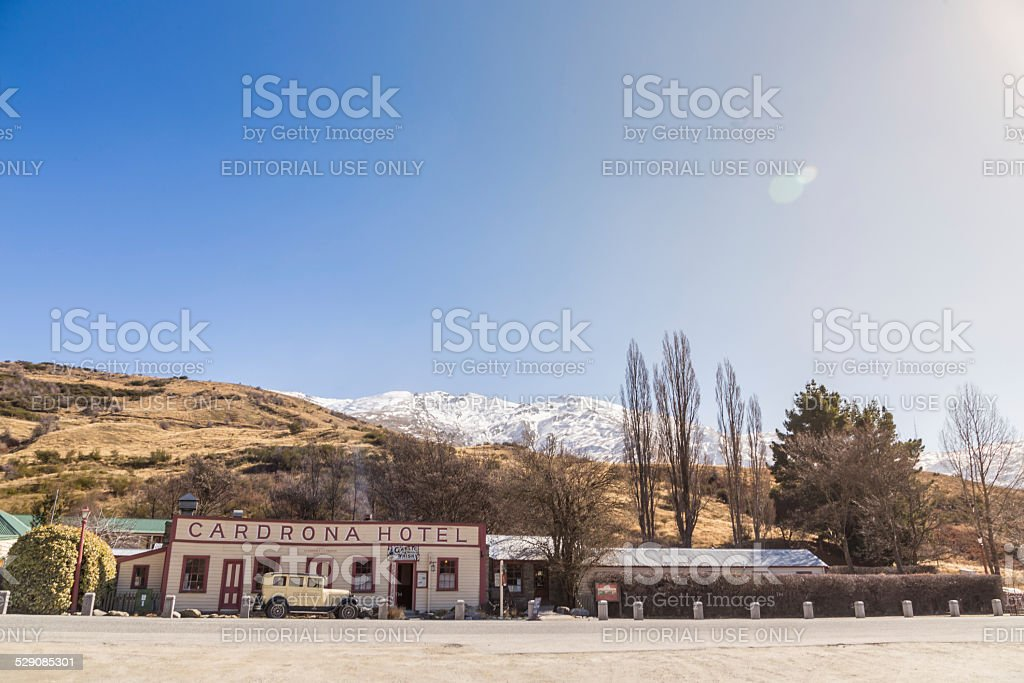 Historic Cardrona Hotel in Central Otago, New Zealand stock photo