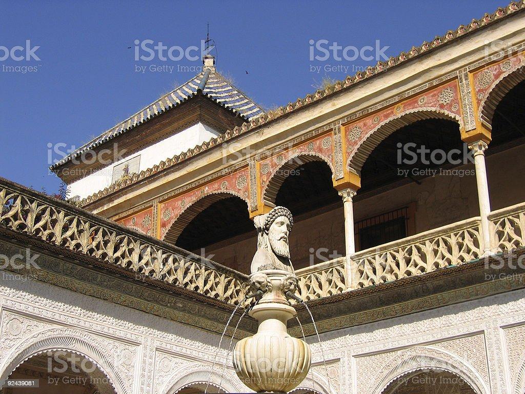 historic casa de pilatos seville royalty-free stock photo