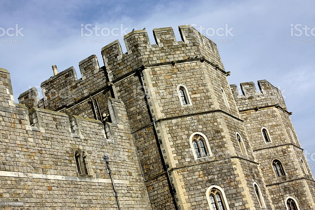 Historic castle in Windsor England royalty-free stock photo