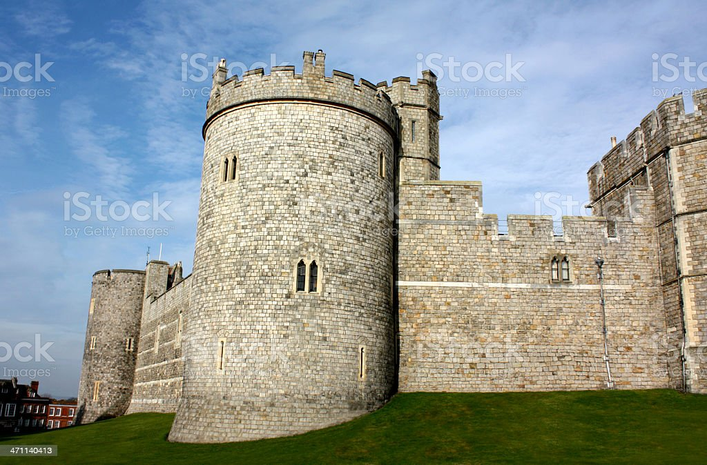 Historic castle in Windsor England stock photo
