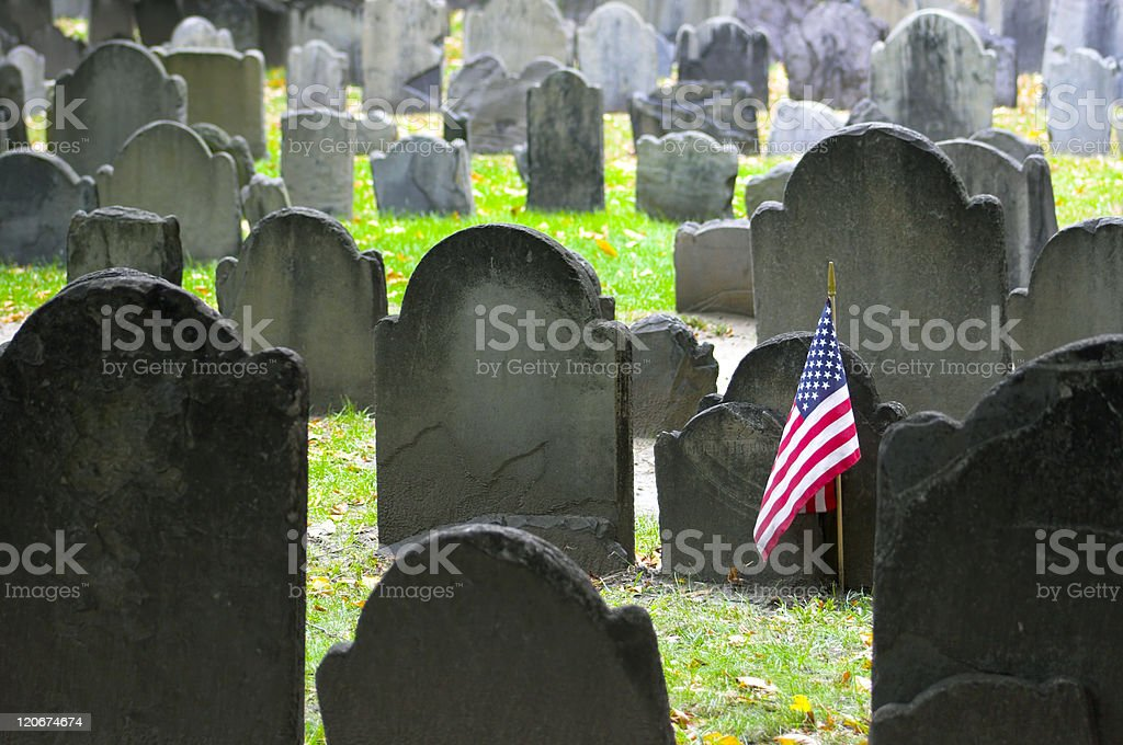 Historic cemetery stock photo