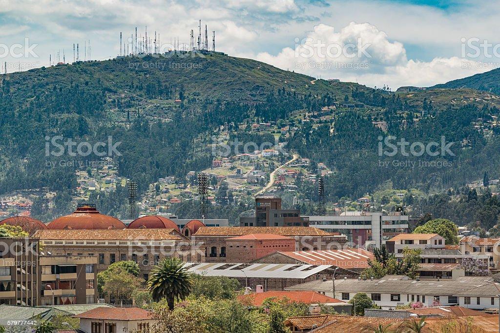 Historic Center of Cuenca, Ecuador stock photo