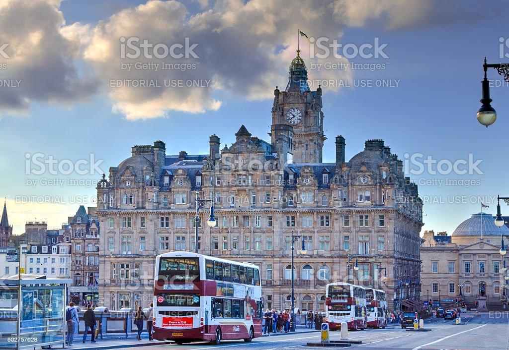 Historic Center (Old Town) of Edinburgh, Scotland, United Kingdom. stock photo