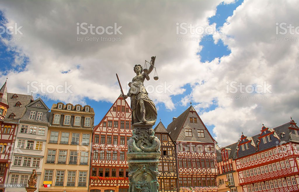 Historic center of Frankfurt stock photo