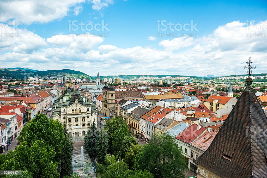 historic center of Kosice stock photo