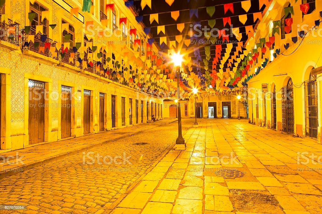 Historic Center of São Luís, Maranhão, Brazil stock photo
