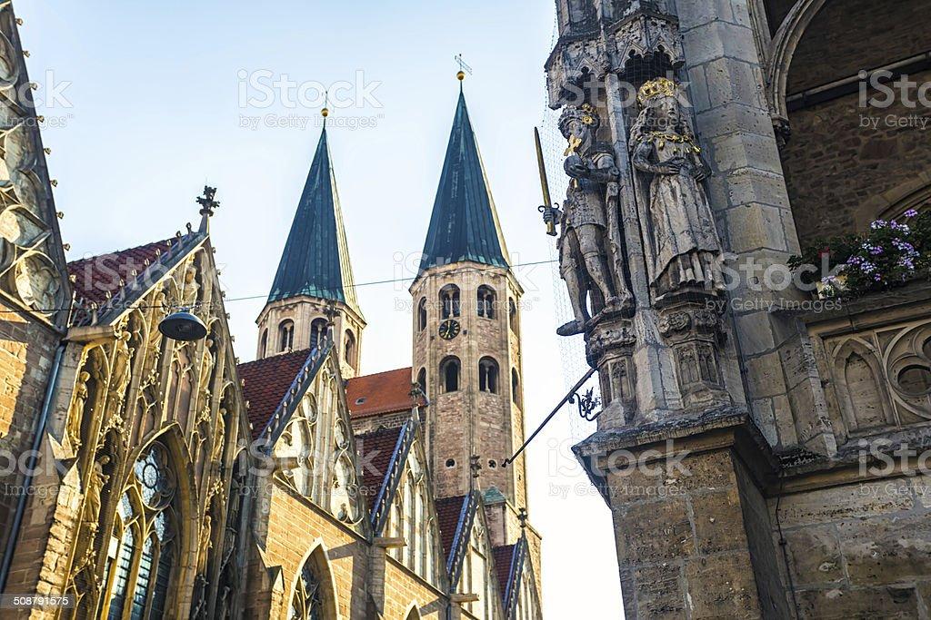 Historic centre Braunschweig stock photo