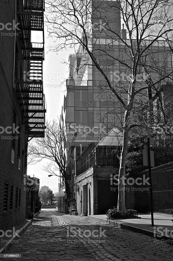 Historic Charles Lane, West Greenwich Village, Manhattan, NYC royalty-free stock photo