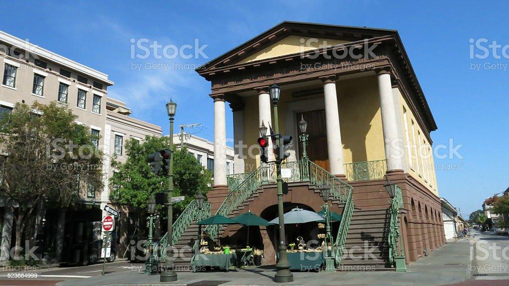Historic Charleston City Market Place, South Carolina stock photo