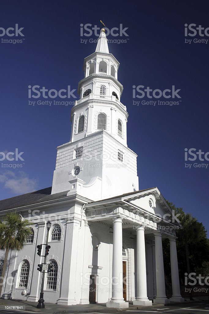 Historic Charleston - St Michael's Episcopal Church stock photo