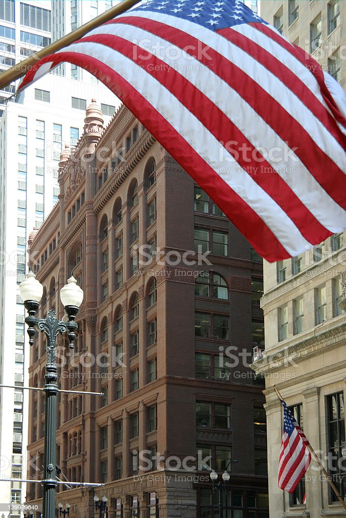 Historic Chicago Office Building stock photo