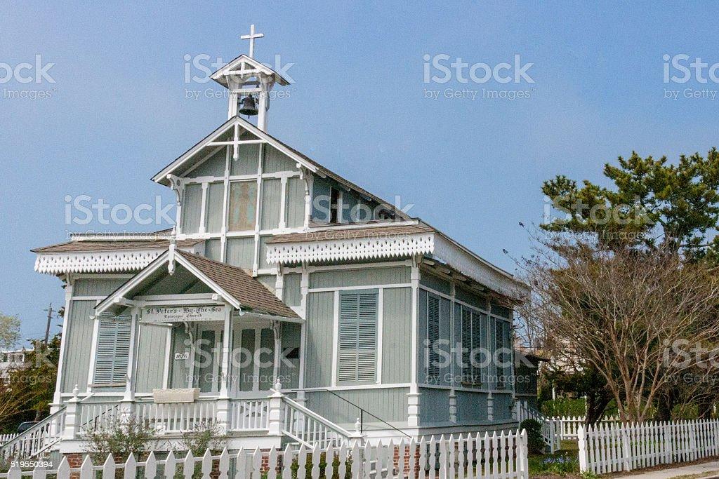 Historic Church 1865 in Cape May, NJ stock photo