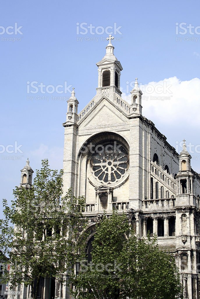 Historic Church in Brussels royalty-free stock photo