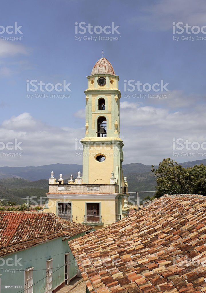 Historic church in Cuba royalty-free stock photo