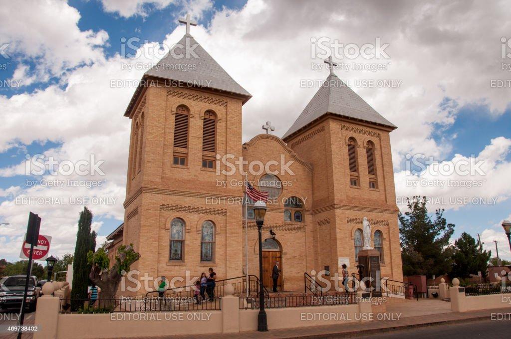 Historic Church in Old Mesilla Near Las Cruces, New Mexico stock photo