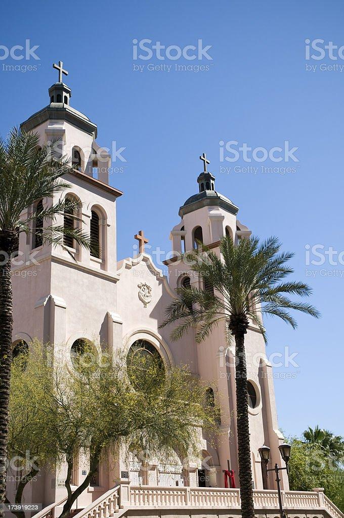 Historic church in Phoenix, Arizona royalty-free stock photo