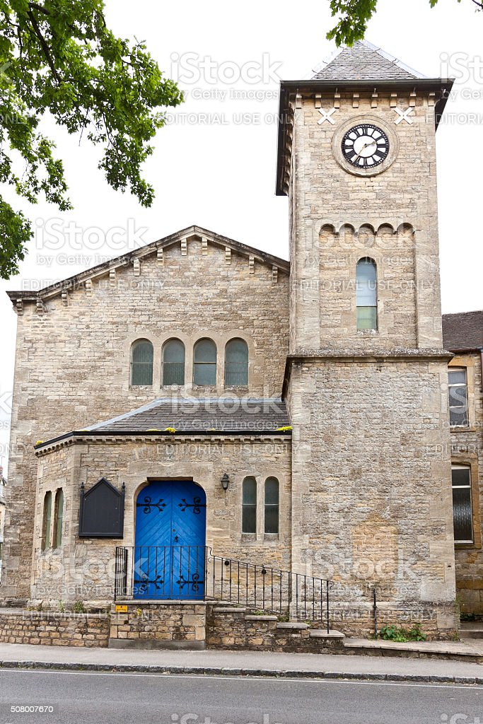 Historic Church in Stow-on-the-Wold, Cotswold, England, United Kingdom. stock photo