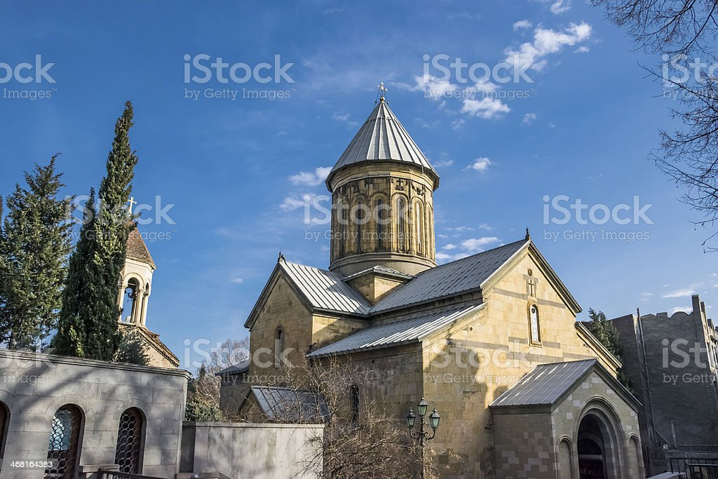 Historic Church, Sioni Cathedral of the Dormition, Tbilisi, Georgia, copyspace stock photo