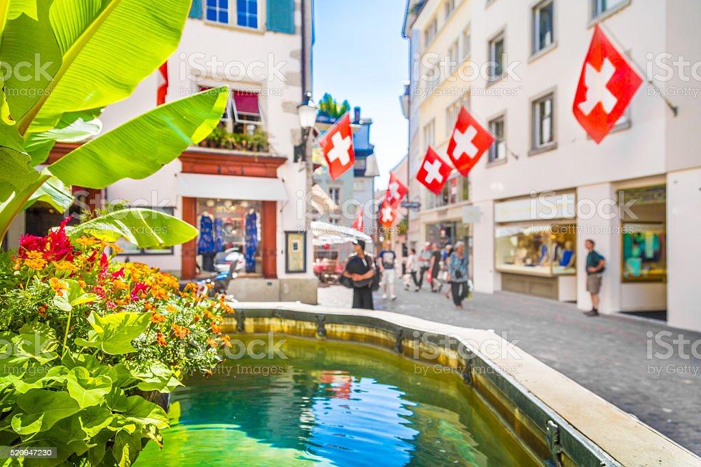 Historic city center of Zürich, Switzerland stock photo