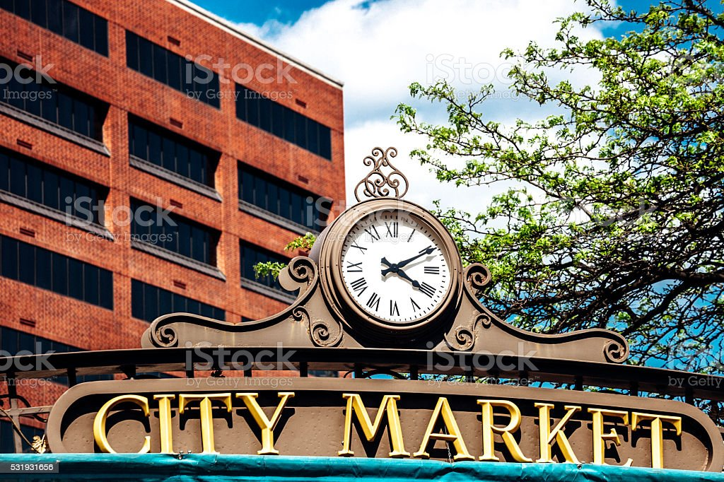 Historic City Market - Indianapolis. stock photo