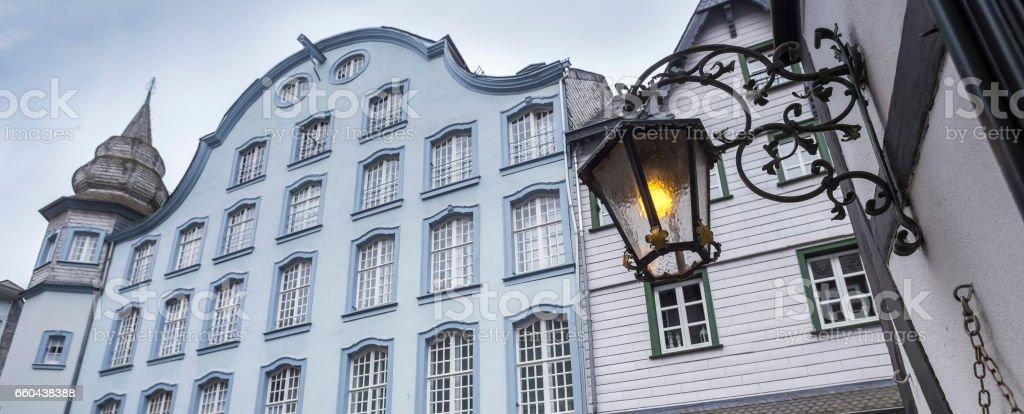historic city monschau germany stock photo