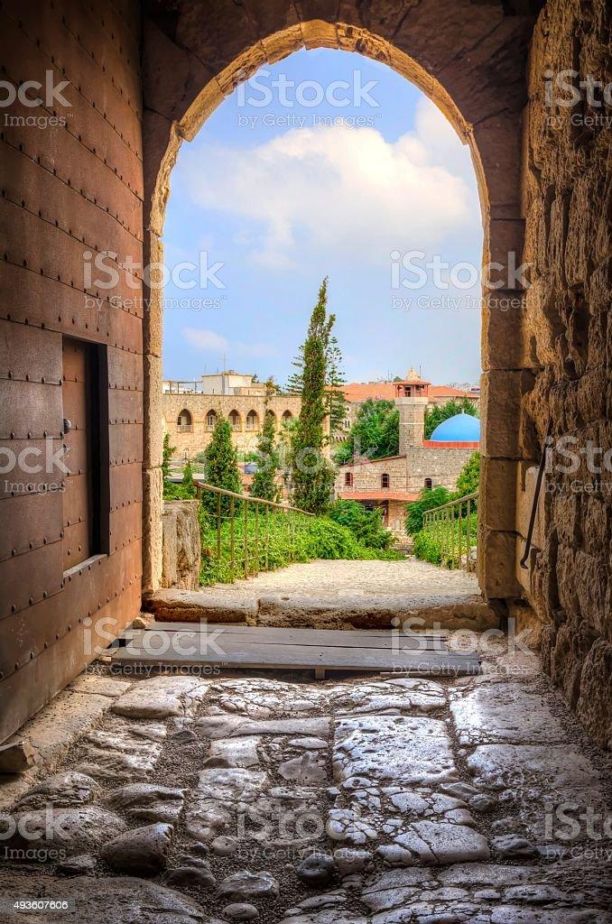 Historic city of Byblos, Lebanon stock photo