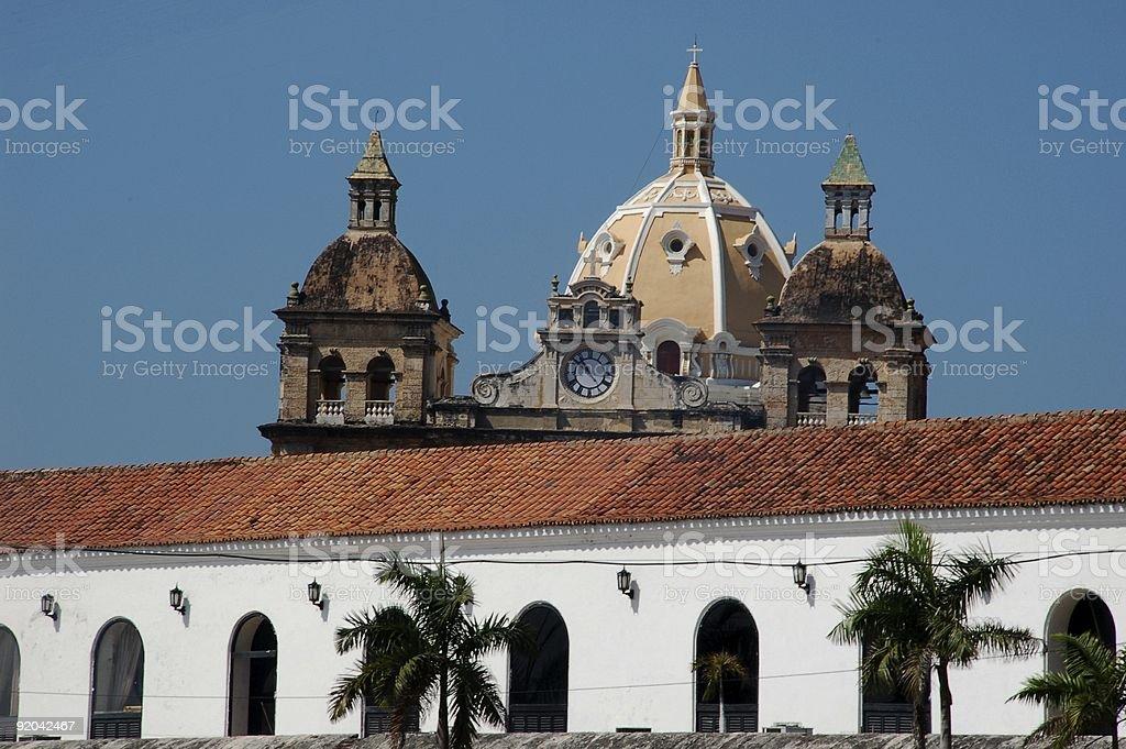 Zabytkowe miasto Cartagena zbiór zdjęć royalty-free