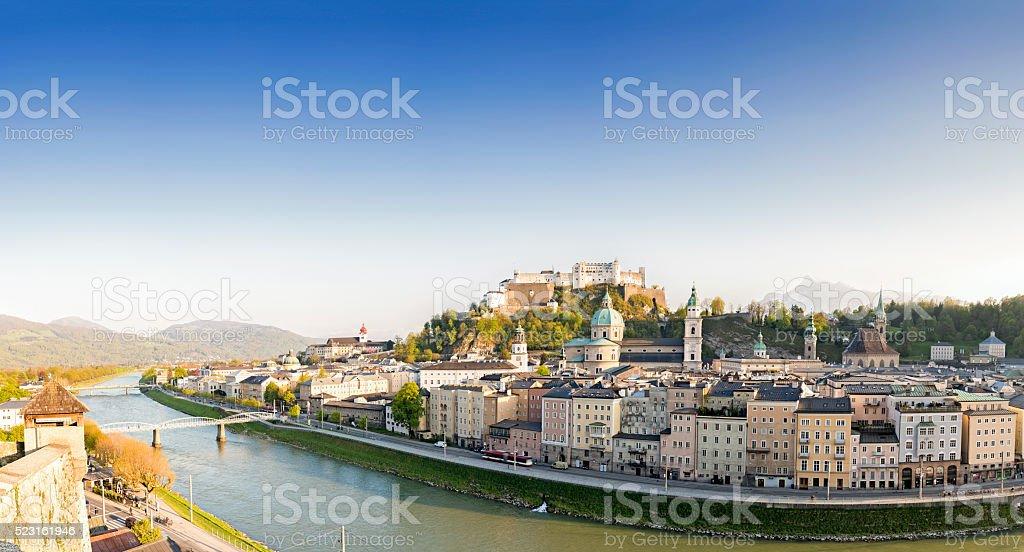 Historic city of Salzburg, Salzburger Land, Austria stock photo